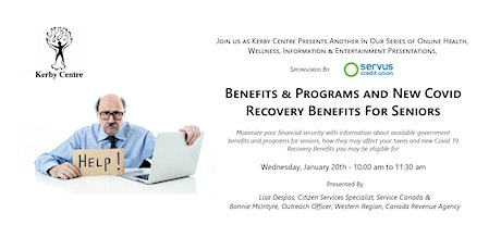 Benefits , Programs & Covid 19 New Recovery Benefits For Seniors tickets