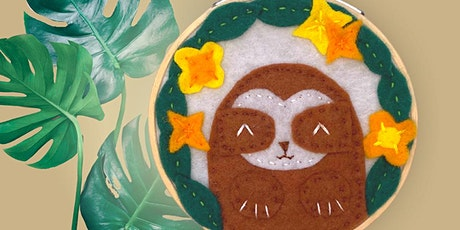 Felt Sloth Embroidery tickets
