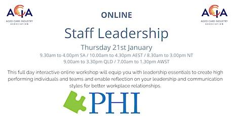Staff Leadership tickets