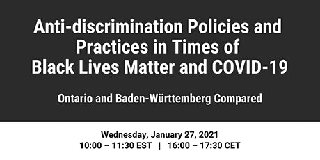 Anti-Discrimination Policies in Times of Black Lives Matter and COVID-19 tickets