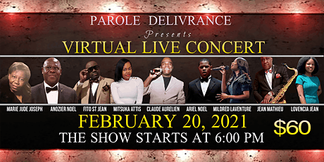 VIRTUAL LIVE CONCERT with Claude Aurelien & Co by Parole Delivrance tickets