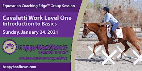 Cavaletti Work Level One — Intro the Basics — Equestrian Coaching Edge tickets