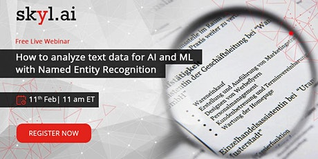 How to analyze text data for AI and ML with Named Entity Recognition Tickets
