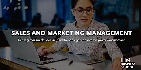Sales & Marketing Management - påverka genom försäljning och ledarskap biljetter