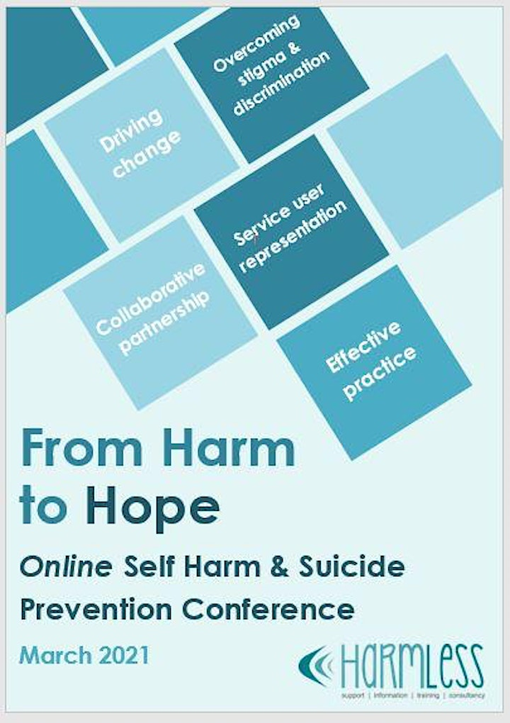 From Harm to Hope: Online Self Harm & Suicide Prevention Conference image