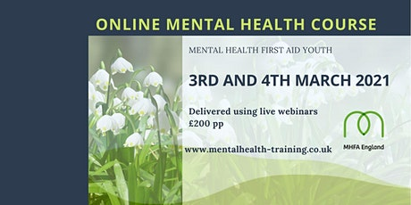 MHFA Youth Mental Health First Aid course ONLINE tickets