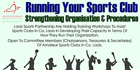 Sports Club Organization & Governance Training Workshops 18th &  25th Jan tickets
