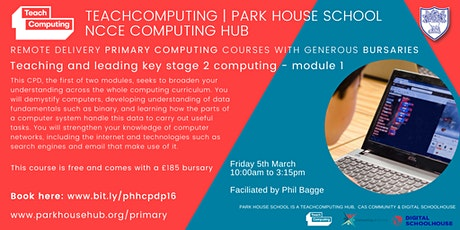 Primary Computing - Teaching & Leading Key Stage `2 - REMOTE DELIVERY tickets