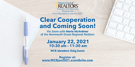 Clear Cooperation and Coming Soon! tickets