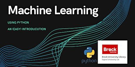 Machine Learning with Python biglietti