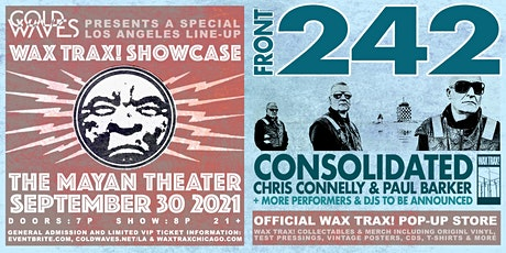 Cold Waves presents: Wax Trax! LA Showcase tickets