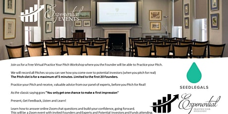 Startups Free Practice Your Pitch Workshop tickets