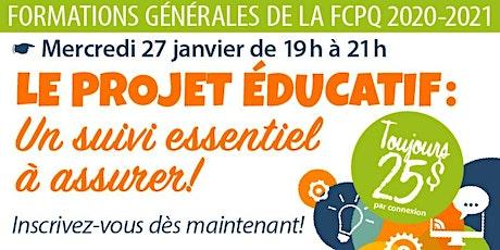 Formation «Suivi du projet éducatif» billets