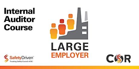 Large Employer Internal Auditor Re-certification - Online - Mar tickets