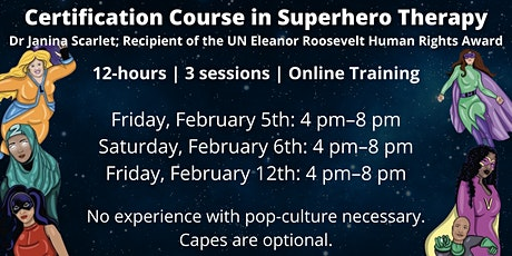 Certification course in Superhero Therapy with Dr Scarlet | 12 CPD hours tickets