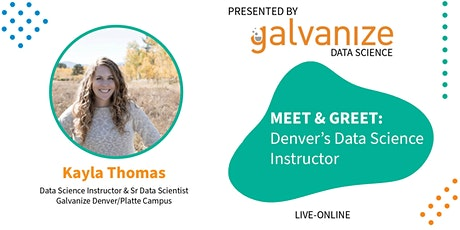 Meet & Greet: Denver's Data Science Instructor [LIVE-ONLINE] tickets