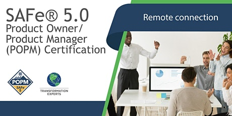 REMOTE   SAFe® 5.0 Product Owner / Product Manager (POPM) Certification tickets