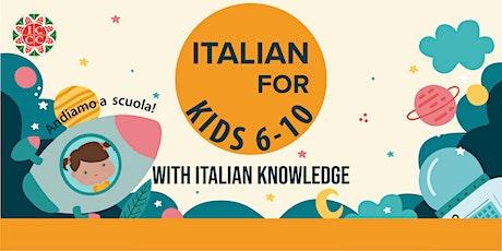 Intermediate Italian For Kids - Ages 6-10 tickets