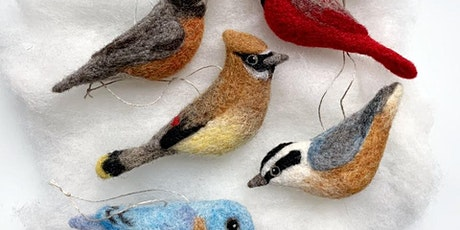 VIRTUAL: Needle Felted Downy Woodpecker with Erin Carlson tickets