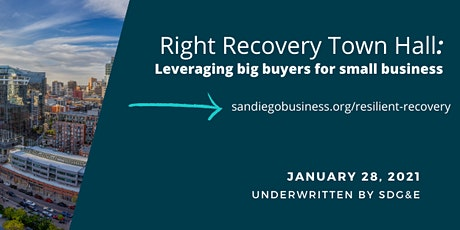 Right Recovery Town Hall:  Leveraging big buyers for small business. tickets