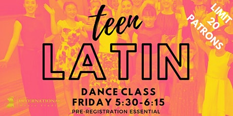 Teen Youth Latin American Dance Class [TERM 1] tickets