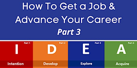How to Get a Job & Advance Your Career: Part 3 tickets