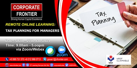 Tax Planning for Managers tickets