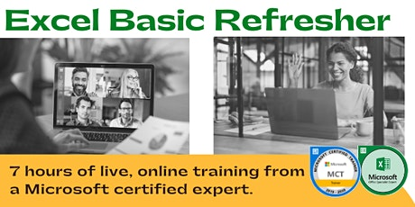Excel Basic Refresher: Step-by-Step | Live, Online (7  Hrs) tickets