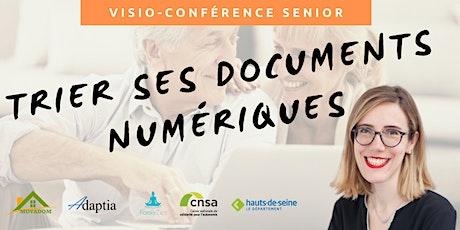 Visio-conférence senior GRATUITE - Trier ses documents numériques billets