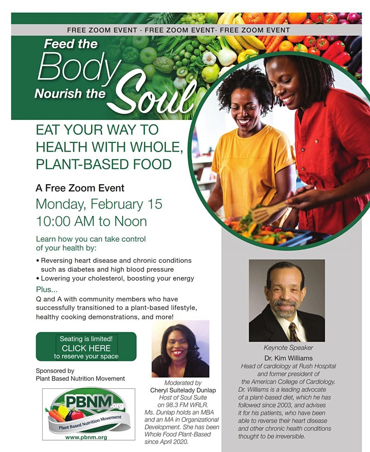 Flyer for Dr. Kim Williams Healthy event