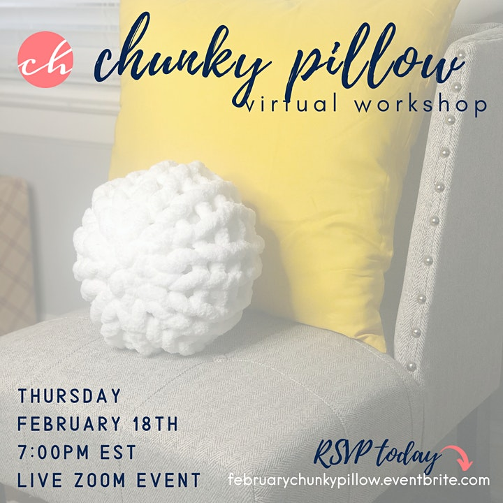 Chunky Pillow Virtual Workshop with Craft Happy image