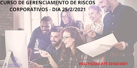 CURSO DE GERENCIAMENTO DE RISCOS CORPORATIVOS bilhetes