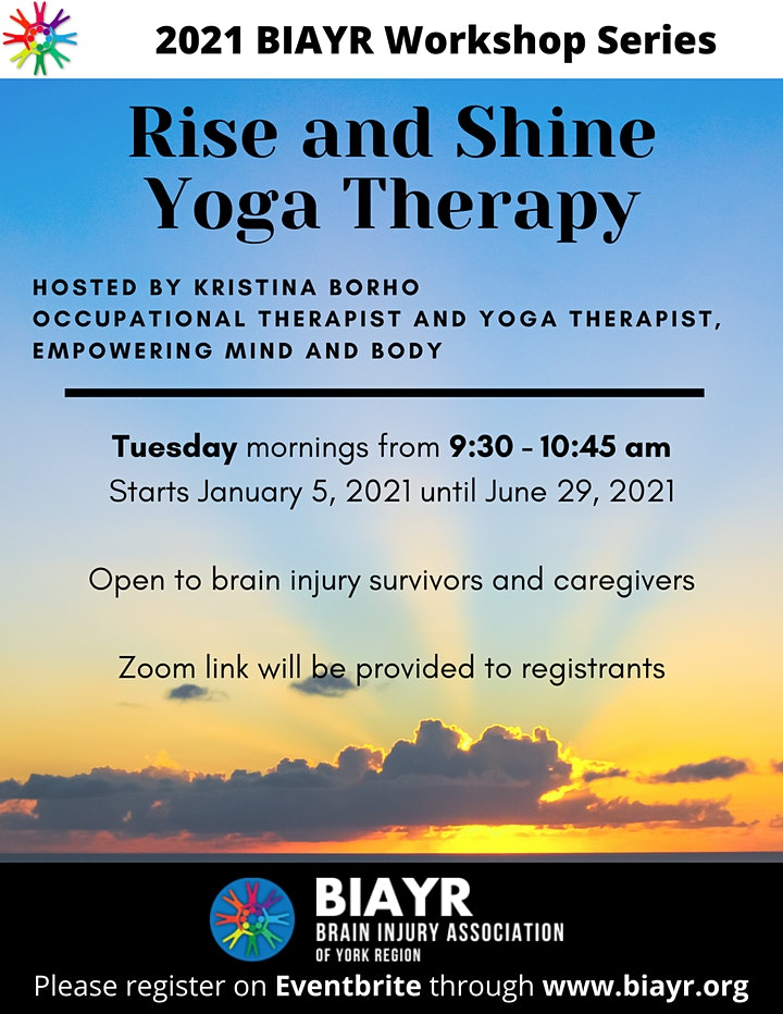 Yoga Therapy for Brain Injury - 2020 BIAYR Workshop Series (Online) image