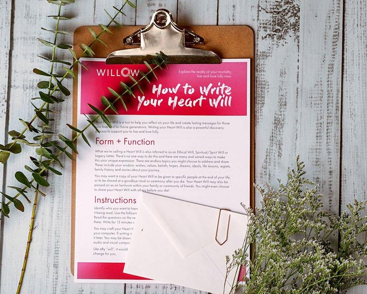 Write Your Heart Will & Live Your Legacy (A 2  Part Willow Workshop Series) image