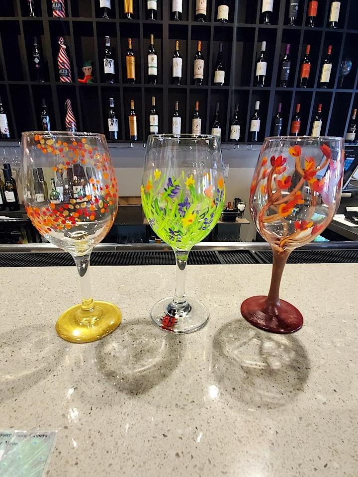 New Years Wine Glass Painting image