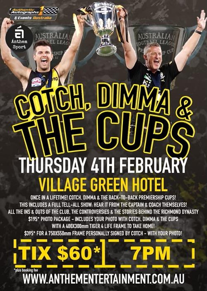 Cotch, Dimma & The Cups @ The Village Green Hotel image
