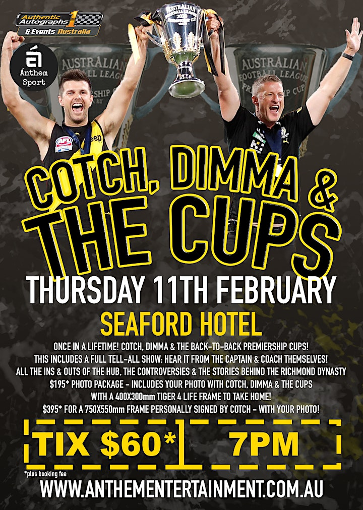 Cotch, Dimma & The Cups @ The Seaford Hotel image