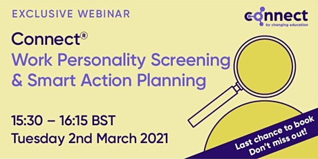 CONNECT - Work Personality Screening & Smart Action Planning tickets