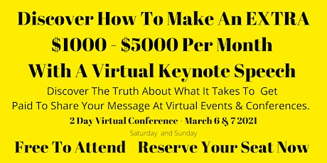 Speaking For Newbies Virtual Conference-Get Paid To Speak Online or Onstage tickets