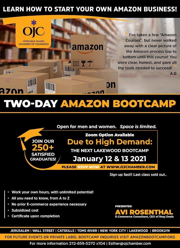 NJ +NY or ZOOM!  2 Day Sell on Amazon Boot-camp Training image