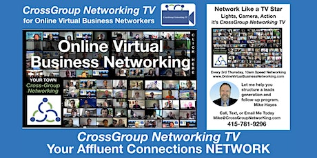 Online Virtual Business Networking Events, & Affluent Connections Network tickets
