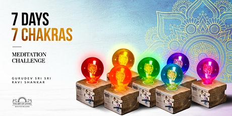 Chakra Meditation: 7 Chakras -7 Meditations -7 Days Tickets