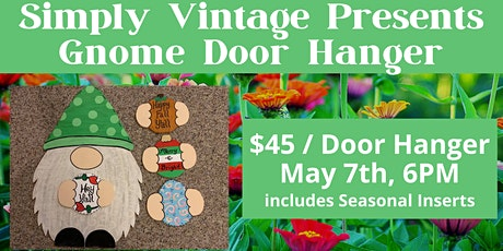 Gnome Door Hanger with Classic Designs by Cindy tickets