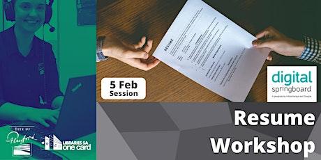 Career Workshop: Resume Session tickets