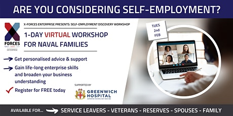 Naval Families - Self Employment Discovery Virtual Workshop tickets