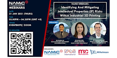 NAMIC Webinars: Identifying & Mitigating IP Risks Within Industrial 3DP tickets