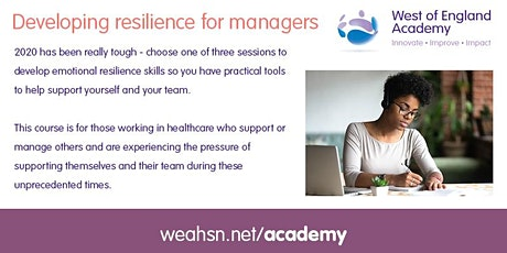 Developing resilience for managers tickets