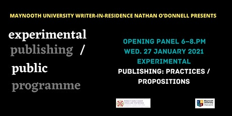 experimental publishing/ public programme tickets