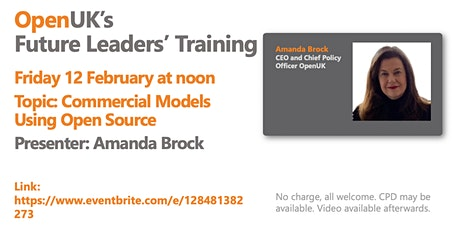 Commercial Models Using Open Source - Future Leaders Training tickets