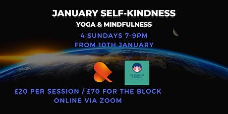 January Self-Kindness Sessions - Yoga & Mindfulness Online on Sundays tickets